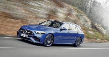 Mercedes-Benz C-Klasse T-Modell, 2021, Spektralblau, Leder zweifarbig Nevagrau/Schwarz // Mercedes-Benz C-Class Estate, 2021, spectral blue, neva grey/black leather